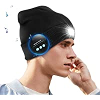 COZONE Berretto Unisex Bluetooth LED Beanie con Luce, USB Ricaricabile Torcia per Cuffie Cuffia Cappello Musicale…