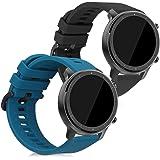 kwmobile Cinturino in Silicone Compatibile con Huami Amazfit GTR (47mm) / GTR 2-2X Fascetta Fitness Tracker con Fibbia ca. 16