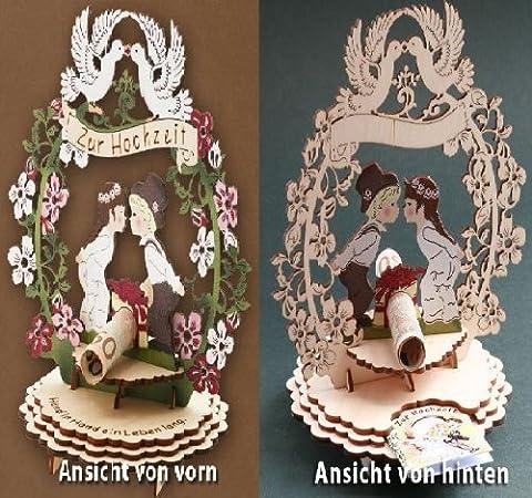 1 X Glückwunschkarte Hochzeit Hochzeitsgeschenk Geld Geschenk Karte