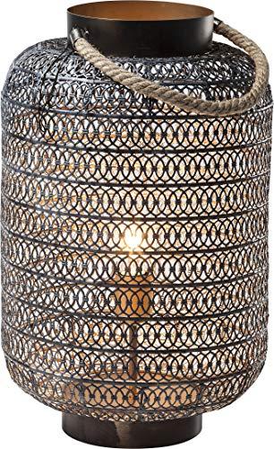 Kare 38216 Bodenleuchte Sultans Palace 47cm, Stahl, matt schwarz [Energieklasse A++]