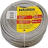 Galvanizado madeja de cuerda Metal en 50 metros Ø 5 mm Maurer