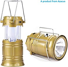 Emergency Light for Home by Azacus, 6 + 1 LED Solar Emergency Light Lantern, USB Mobile Charging 2 Power Source Solar, Lithium Battery (Color Will Be As Per Stock)