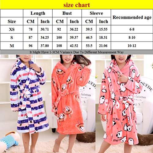Zhhlaixing Winter Thicken Childrens Flannel Dressing Gown Soft Robes Pyjamas Orange
