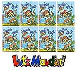 8 ZAUBERBLÖCKCHEN * PIRAT PIT PLANKE * im Set mit je 24 Seiten in DIN A8 von Lutz Mauder // Mitgebsel Kindergeburtstag Malbuch