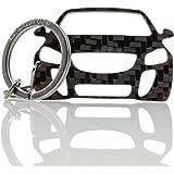 Blackstuff Carbon Karbonfaser Schlüsselanhänger Kompatibel Mit Astra H 2004 2009 Bs 190 Auto