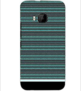 PrintDhaba Tribal pattern D-1759 Back Case Cover for HTC ONE M9 (Multi-Coloured)