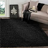 A2Z RUG SOFT SUPER THICK SHAGGY RUGS Black 160X230 CM -5'2''X7'5''