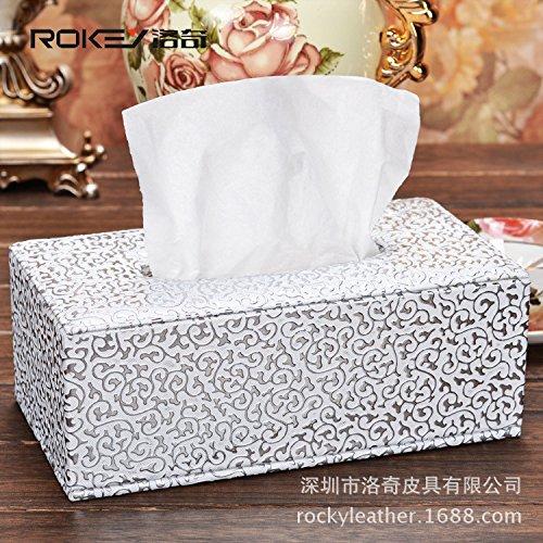 HL-PYL Leder Papier Handtuch Box Pu Leder Leder Karton Karton, F, 18,5 X 11,5 X 9 cm