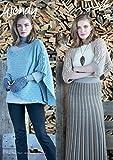 Wendy Damen Strickjacke und Poncho Top pixile Strickmuster 5985DK