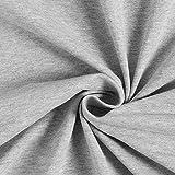 Jerseystoff Melange Grau — Meterware ab 0,5m — Zum