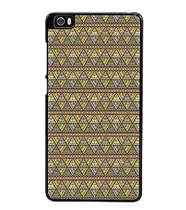 Fuson Premium 2D Back Case Cover Pattern Triangles With yellow Background Degined For Xiaomi Redmi Mi5::Xiaomi Mi 5