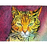 Kater - handgemaltes Originalbild, Katzenbild, Katze