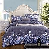 PZJ® ropa de cama de 4 piezas, Juego de cama, Incluye 1 funda nórdica, 1 sábana y 2 Funda de almohada, Hecho de algodón con 100% nuevo, Multicolor [Clase de eficiencia energética A+++]