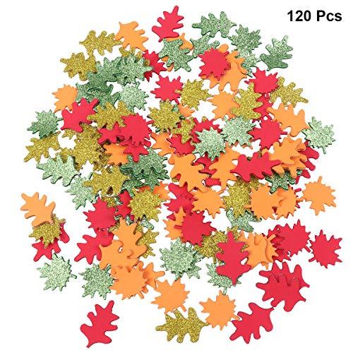 Nummer 9 Applique (Healifty 120pcs selbstklebende Ahornblatt Schaum Fertigkeit Aufkleber für Kinderkinder (sortierte Farbe))