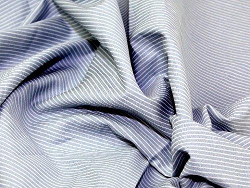 Streifen Print Baumwolle Chambray Denim Kleid Stoff Meterware, Sky Blau + Frei Minerva Crafts Craft Guide - Denim-guide