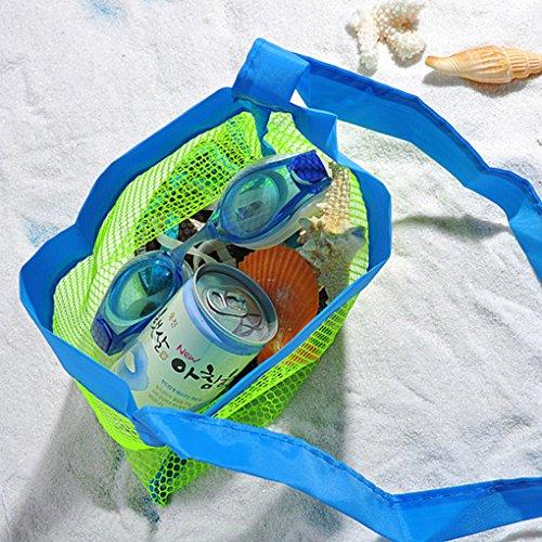 QHGstore Kinder Kinder Strand Spielzeug empfangen Beutel Kleine Netzaufbewahrungstasche Massage Tasche Grün