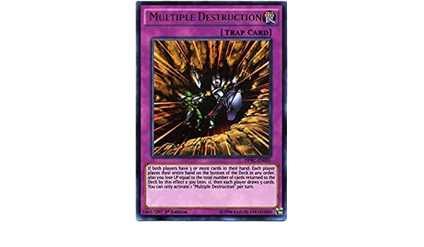 DPBC-EN005 Multiple Destruction Ultra Rare 1st edition Mint YuGiOh Card