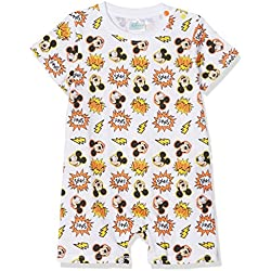 Disney Mickey 173747 Barboteuse, Blanc, Taille Fabricant: 24 Mois Bébé garçon