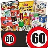 60. Geburtstag | Ostpaket für Frauen | mit Trabi Puffreis Schokolade, Butterkeks Original Wittenberger und mehr | GRATIS DDR Kochbuch | Süße Geschenkboxen