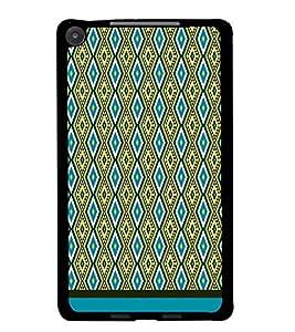 PrintDhaba Diamond Pattern D-1751 Back Case Cover for ASUS GOOGLE NEXUS 7 2013 (Multi-Coloured)