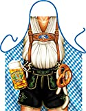Tini - Shirts Lustige Grillschürze sexy Lederhosen Tracht/Bayern: Oktoberfest Mann !! mit GRATIS Urkunde !! One Size