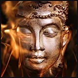 Eurographics LA-DT71014 Statue De Bouddha 80x80 Light Art, Acryl, Bunt, 80,00 x 80,00 x 5,00 cm