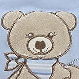 Jacky Jungen Baby Ganzjahres Schlafsack Langarm, 100% Baumwolle, Hellblau/Ringelstreifen, Gr. 62/68, 350013 - 7