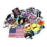 coolmate 125 pcs aufkleber aufkleber für auto, motorrad, fahrrad skateboard - laptop gepäck vinyl - aufkleber graffiti laptop gepäck aufkleber stoßstange, klaren aufkleber, holagram aufkleber aufkleber