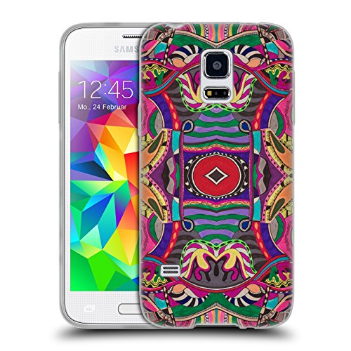 Head Case Designs Offizielle Vasare NAR Psychedelisch Muster 2 Soft Gel Huelle kompatibel mit Samsung Galaxy S5 Mini - Psychedelische Mini