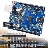 Bonega® UNO R3 Rev3 Board Entwicklungsboard ATmega328P CH340G AVR Arduino kompatibles Board + Kabel für Arduino Robotik und DIY-Projekte