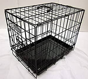 Dog Cage or Crate in Black for Toy Breeds (831)