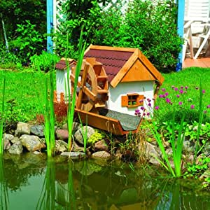 Water mill garden water feature working watermill for for Garden pond amazon