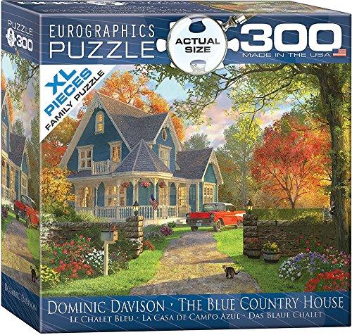 Eurographics 8300-0978 - Puzzle (300 Piezas), diseño de la casa de Campo Azul