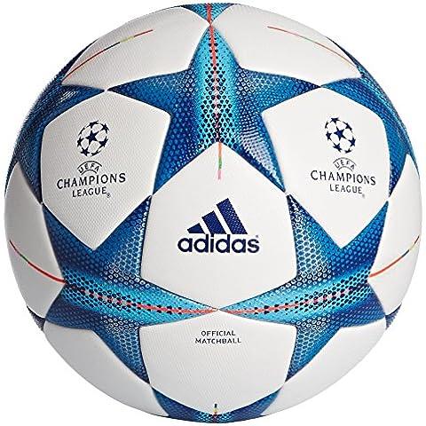 adidas Fin15OMB - Balón de fútbol, color blanco / azul, tamaño 5