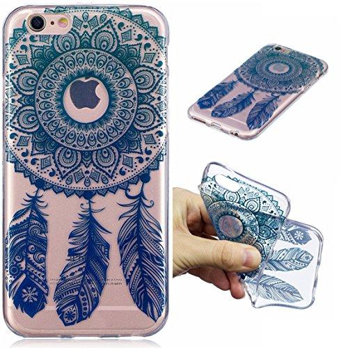 iPhone 6 Plus/6S Plus Hülle, Voguecase Silikon Schutzhülle / Case / Cover / Hülle / TPU Gel Skin für Apple iPhone 6 Plus/6S Plus 5.5(Seehund) + Gratis Universal Eingabestift Lace Feder/Lila Grün