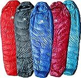 Hyke & Byke Ultralight Down Schlafsack: 3Season 32Grad Mumienschlafsack unter 2lbs–Der leichteste, höchste Qualität Tasche für durch Wandern, Rucksackreisen, und Camping (schwarz, Regular)