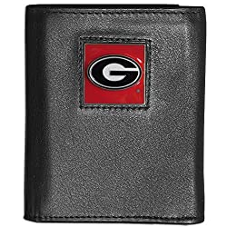 NCAA Georgia Bulldogs Deluxe Leather Tri-fold Wallet
