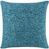 "Chenille Cushion Cover Teal Blue 18""x18"""