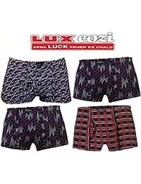 Lux Cozi Bigshot Multicolor Printed Mini Trunks - Set Of 4