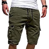 Homebaby Pantaloni Corti da Lavoro Estivi Uomo Sportivo Pantaloncini Coulisse Vintage Loose Pantaloni da Nuoto Spiaggia Baske