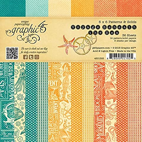 Graphic 45 Graphic 45 Double-Sided Paper Pad 6-inch x 6-inch