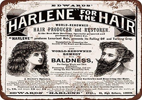 1895-harlene-cheveux-producteur-et-restaurateur-look-vintage-reproduction-plaque-en-metal-203-x-305-