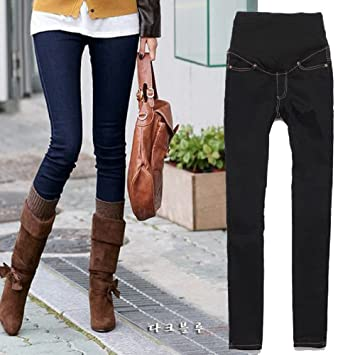 LADIES WOMEN FASHIONABLE SKINNY MATERNITY JEANS BLUE SIZE 8 10 12 ...