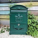 CXQ Europäischen Villa Briefkasten Im Freien Wasserdichte Brief Box Wand Kreative Briefkasten Vorschlag Box Retro Briefkasten Mit Schloss (Color : Orange green)