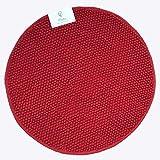 Classic Textiles Of Sweden Badematte, Badvorleger PLUTO, ca. 70 cm rund, 60x90 cm oder 70/120 cm, 100% Baumwolle, 1700gsm (rot, 70)