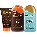 Bilboa, Kit Abbronzatura Carrot Plus con Protezione Solare SPF 6, Doposole per Prolungare l'Abbronzatura e Super Abbronzante
