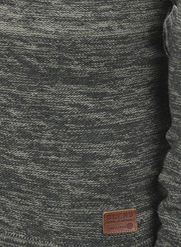 BLEND Bogotá Herren Strickpullover Rundhalskragen Pewter Mix (70817)
