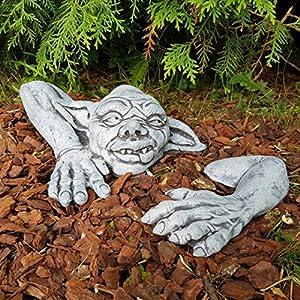 Gartendeko lustiger Kobold frostfest handbemalt klein Steinfigur Deko für außen Garten Balkon Terassen Gargoyles Gartenfiguren