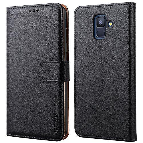 Peakally Coque Samsung Galaxy A6 2018, PU Etui Housse en Cuir Portefeuille. 282f016ab33