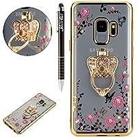 Galaxy S9 Hülle,SainCat Silikon Hülle Rosa Blumen Schmetterlinge Case für Samsung Galaxy S9 Bling Sparkle Glänzend... preisvergleich bei billige-tabletten.eu